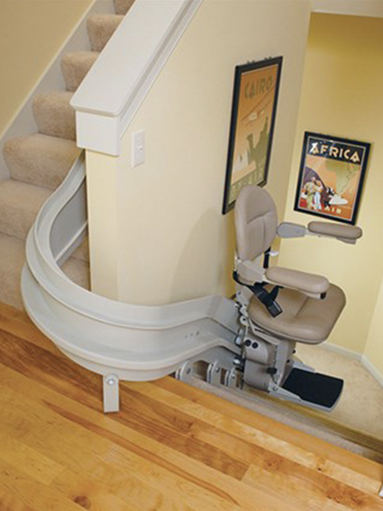 Custom curved stair lifts